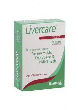 LIVERCARE 60 COMPRIMIDOS - HEALTH AID - 5019781000265