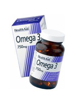 OMEGA 3 750MG 60 CAPSULAS - HEALTH AID - 5019781000630