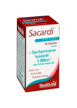 SACARDI 30 CÁPSULAS VEGETALES - HEALTH AID - 5019781012459