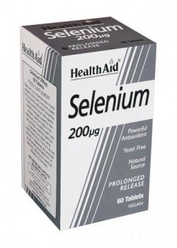 SELENIO 200µG 60 TABLETAS - HEALTH AID - 5019781020010