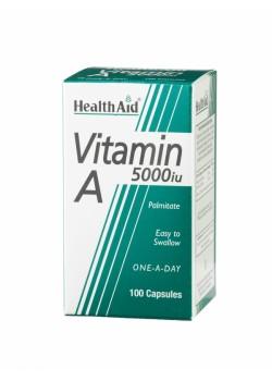 VITAMINA A 5000IU 100 CAPSULAS - HEALTH AID - 5019781000012