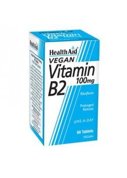 VITAMINA B2 RIVOFLAVINA 100MG 60 COMPRIMIDOS - HEALTH AID - 5019781010646