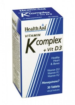 VITAMINA K COMPLEX CON VITAMINA D3 30 TABLETAS - HEALTH AID - 5019781012435