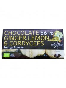 CHOCOLATE 56% GINGER, LEMON & CORDYCEPS 100GR BIO - HIFAS DA TERRA - 8437014699135