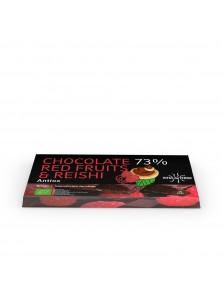 CHOCOLATE 73% FRUTOS ROJOS Y REISHI 100GR - HIFAS DA TERRA - 8437014699142