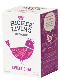 INFUSION CHAI DULCE 15 BOLSAS 33GR BIO - HIGHER LIVING - 5060319120146