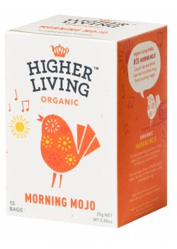 INFUSION MORNING MOJO 15 BOLSITAS BIO - HIGHER LIVING - 5060319129415