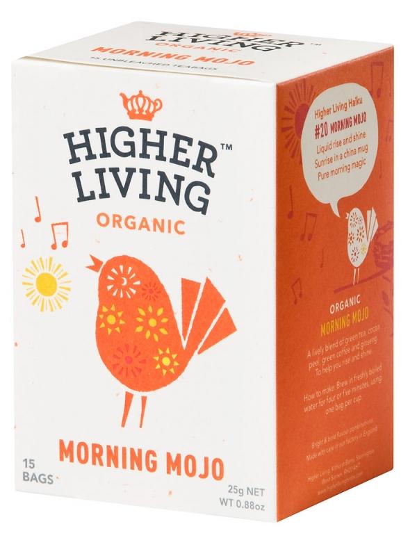 INFUSION MORNING MOJO 15 BOLSITAS BIO - HIGHER LIVING