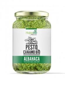 PESTO DE CAÑAMO CON ALBAHACA 135GR BIO - HOLOSLIFE - 606110366182