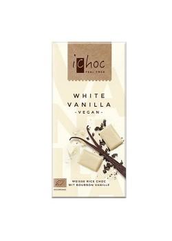 CHOCOLATE BLANCO CON VAINILLA 80GR BIO - ICHOC - 4044889002720