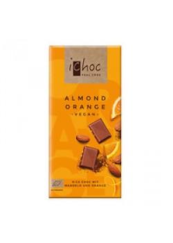 CHOCOLATE CON ALMENDRAS Y NARANJA 80GR BIO - ICHOC - 4044889002744