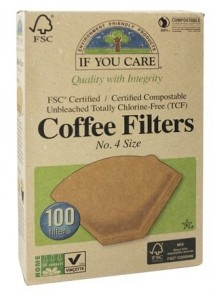 FILTROS DE CAFE Nº4 100 UNIDADES - IF YOU CARE - 770009001147