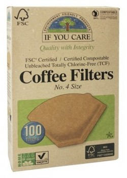 FILTROS DE CAFE Nº4 100 UNIDADES - IF YOU CARE - 770009001147