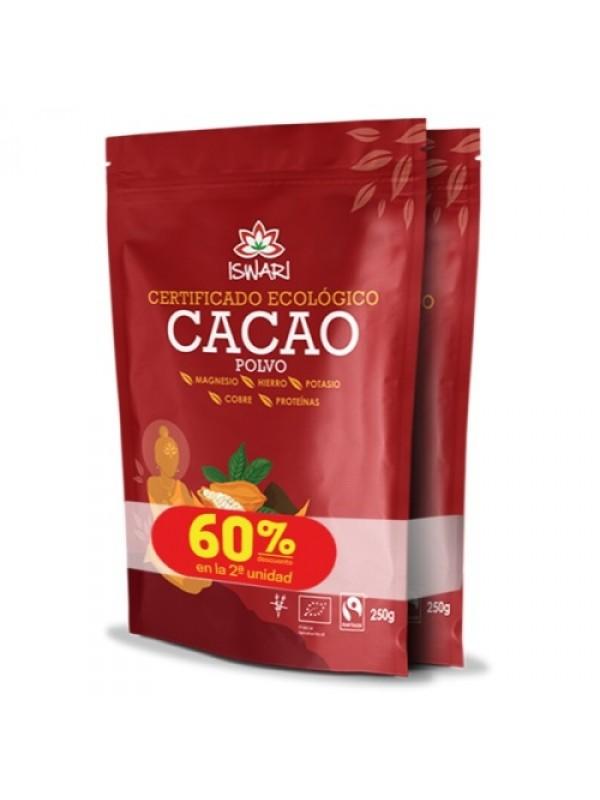 CACAO CRUDO EN POLVO 2X250GR POLVO BIO - ISWARI - 5600317472122