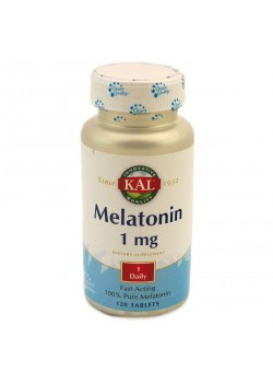 MELATONINA 120 TABLETAS 1MG - KAL - 021245598619