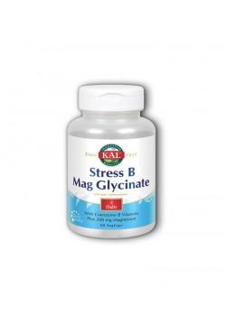 STRESS B MAG GLYCINATE 60 CÁPSULAS - KAL - 021245823247