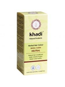 HENNA CASSIA 100% PURA NEUTRA 100GR BIO - KHADI - 4260378040138