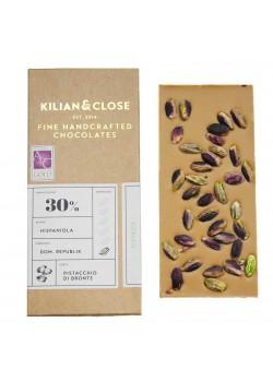 CHOCOLATE VEGANO 30% PISTACHO 80GR - KILIAN  - 4260451460013
