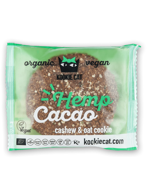 GALLETA CAÑAMO CACAO 50GR BIO - KOOKIE CAT - 3800232730501