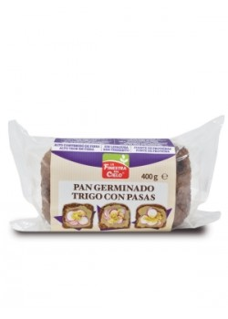 PAN GERMINADO CON PASAS SIN LEVADURA 400GR BIO - LA FINESTRA SUL CIELO - 8436545623862