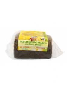 PAN GERMINADO DE LINO Y GIRASOL 400GR BIO - LA FINESTRA SUL CIELO - 8436545623893