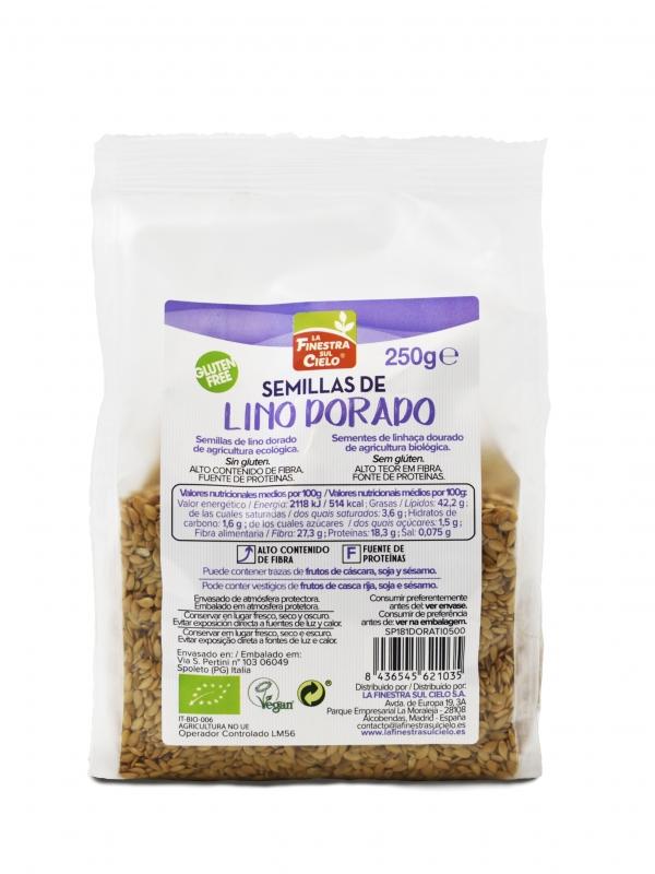 SEMILLAS DE LINO DORADO 250GR BIO