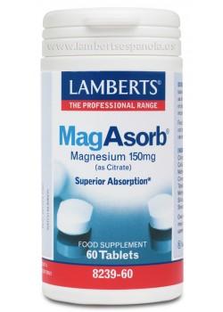 MAGABSORB MAG CITRATO 60 CÁPSULAS 150MG - LAMBERTS - 5055148402228