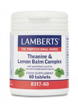 COMPLEJO TEANINA Y BALSAMO DE LIMÓN 60 COMPRIMIDOS - LAMBERTS - 5055148409548