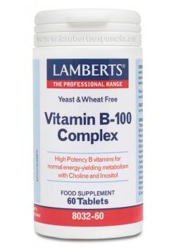 COMPLEJO VITAMINAS B-100 60 CAPSULAS - LAMBERTS - 5055148400316