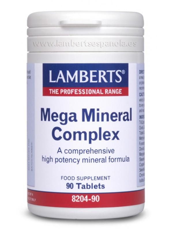 MEGA MINERAL COMPLEX 90 TABLETAS - LAMBERTS - 5055148400514
