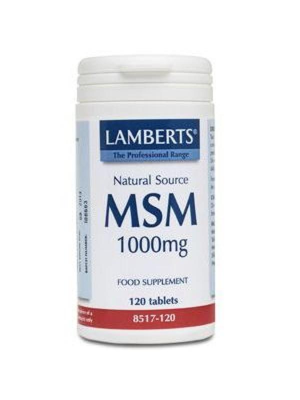 MSM 1000MG 120 TABLETAS - LAMBERTS - 5055148403171