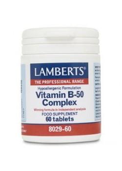 VITAMIN B-50 60 TABLETAS - LAMBERTS - 5055148400217