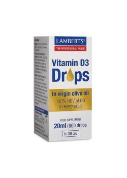 VITAMINA D3 EN GOTAS 20ML - LAMBERTS - 5055148412807