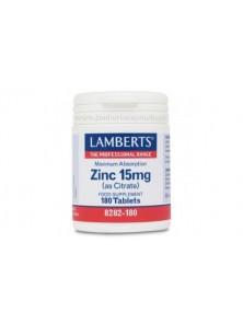 ZINC CITRATO 15MG - LAMBERTS - 5055148400163