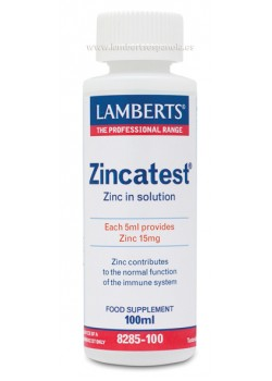 ZINCATEST ZINC LIQUIDO EN FORMA DE SULFATO  100ML - LAMBERTS - 5055148402815