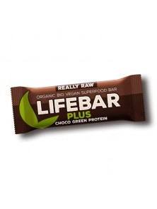 **LIFEBAR PLUS CHOCOLATE CON PROTEINA 47GR BIO - LIFEFOOD - 8594071484583