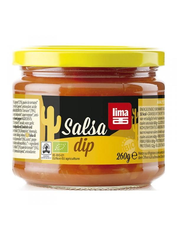 SALSA DIP CHILI TORTILLA CHIPS LIMA 260ML