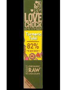 CHOCOLATE CURCUMA CACAO 82% 40GR BIO - LOVECHOCK - 8718421158485