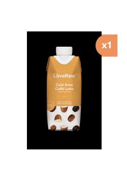 COLD BREW CAFFE LATTE 330ML BIO - LOVERAW - 5060462260133