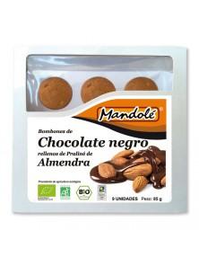 **BOMBONES DE CHOCOLATE NEGRO Y PRALINE DE ALMENDRA 85GR BIO - MANDOLE - 8437000372677