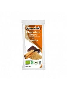 **CHOCOLATE NEGRO CON CANELA 69% CACAO 100GR BIO - MANDOLE - 8437001706785