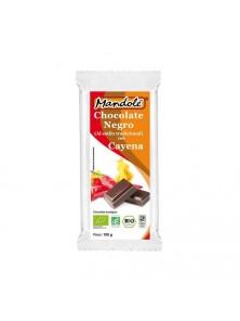 **CHOCOLATE NEGRO CON CAYENA 100GR BIO - MANDOLE - 8437000372943