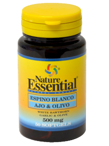 ESPINO BLANCO+AJO+OLIVO 500 MG. 50 PERLAS - NATURE ESSENTIAL - 8435041323221