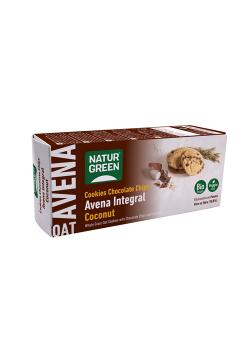 COOKIES DE AVENA INTEGRAL CON COCO 140GR BIO - NATURGREEN - 8436542195829