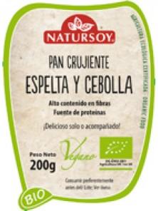 PAN CRUJIENTE DE ESPELTA Y CEBOLLA 200GR BIO - NATURSOY - 8428159005868