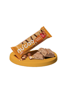 NUCAO CHOCOLATE BLANCO Y CRUJIENTE NOUGAT 100GR BIO - THE NU COMPANY - 4260500651010