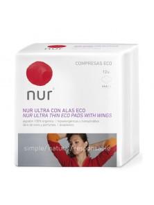 COMPRESA  ULTRA FINA CON  ALAS 12 UNIDADES ECO - NUR - 8411592560704
