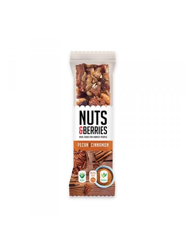 BARRITA NUECES CANELA 30GR BIO - NUTS & BERRIES - 5425036870635