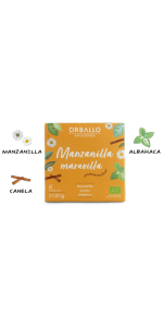 INFUSION MANZANILLA MARAVILLA 15 PIRAMIDES BIO - ORBALLO - 8436553981404