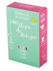 INFUSION MORDISCO DE HIBISCO 10 PIRAMIDES - ORBALLO - 8436552981054